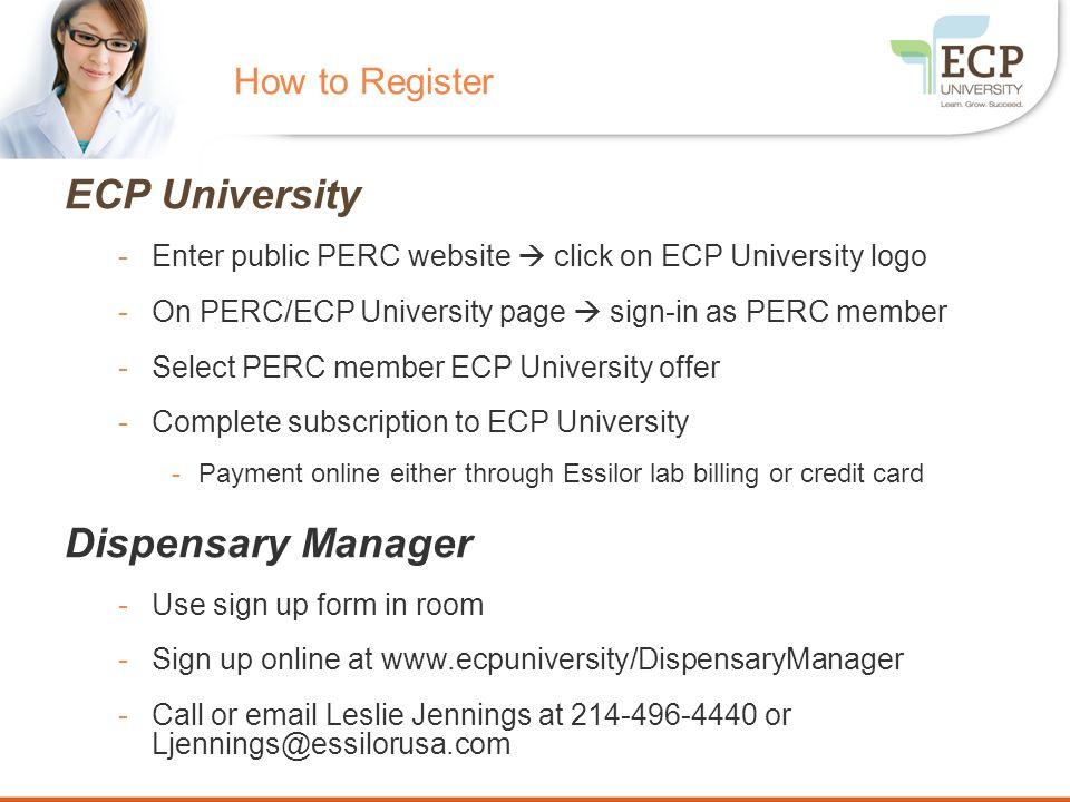 ECP University PERC Subscription