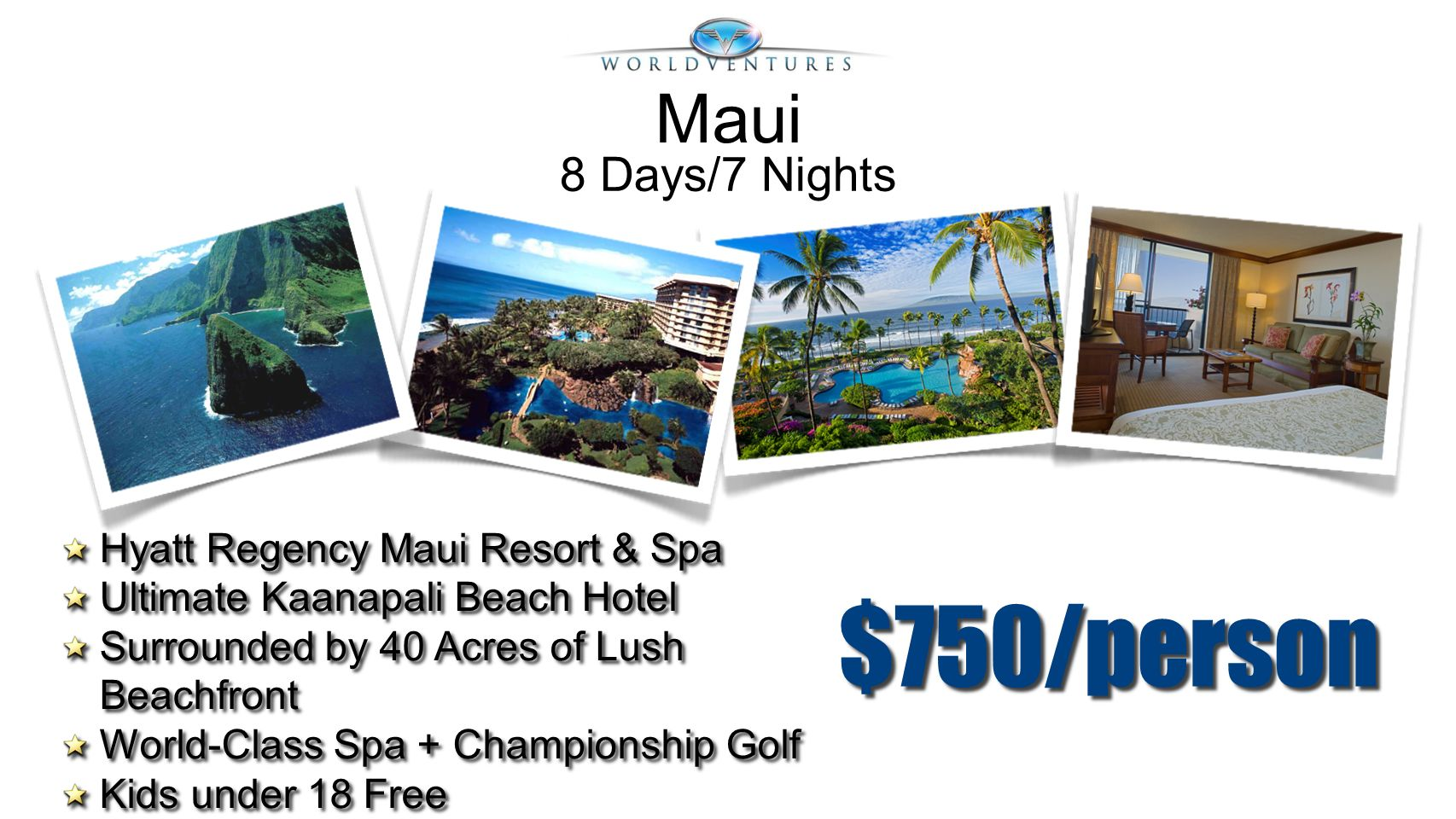 $750/person Hyatt Regency Maui Resort & Spa Ultimate Kaanapali Beach Hotel Surrounded by 40 Acres of Lush Beachfront World-Class Spa + Championship Go