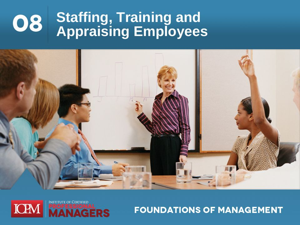 Learning Objectives 8.1 Discuss the managers role in human resource management as it regards staffing, training, and employee performance appraisal.