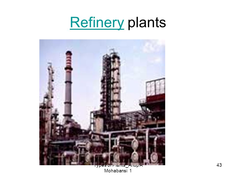 Types of Plants_Anup A Mohabansi 1 43 RefineryRefinery plants