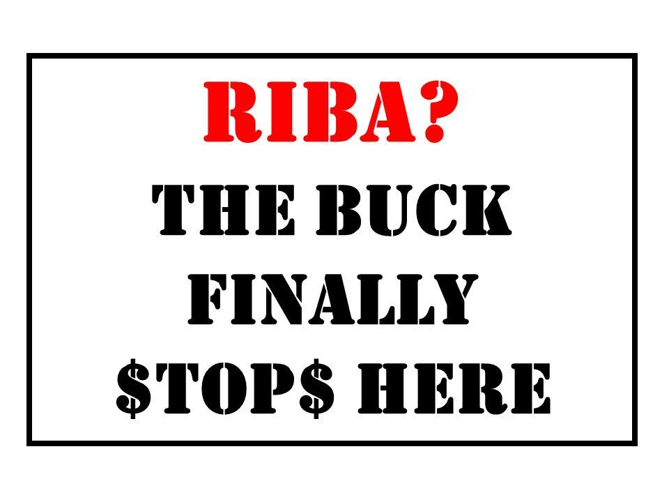 RIBA? THE BUCK FINALLY $TOP$ HERE