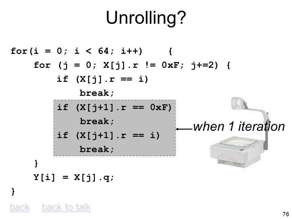 75 OOO Pipe Snapshot IFDAEXWBCT L5 L1 L2 L1 L2 L3 L4 L1 L3 L5 L3 L2 L1 L3 register renaming LOOP: L1: beq $v0,$a1,EXIT ; X[j].r == i L2: addiu $v1,$v1,20 ; &X[j+1].r L3: lw $v0,0($v1) ; X[j+1].r L4: addiu $a0,$a0,1 ; j++ L5: bne $v0,$a3,LOOP ; X[j+1].r == 0xF EXIT:
