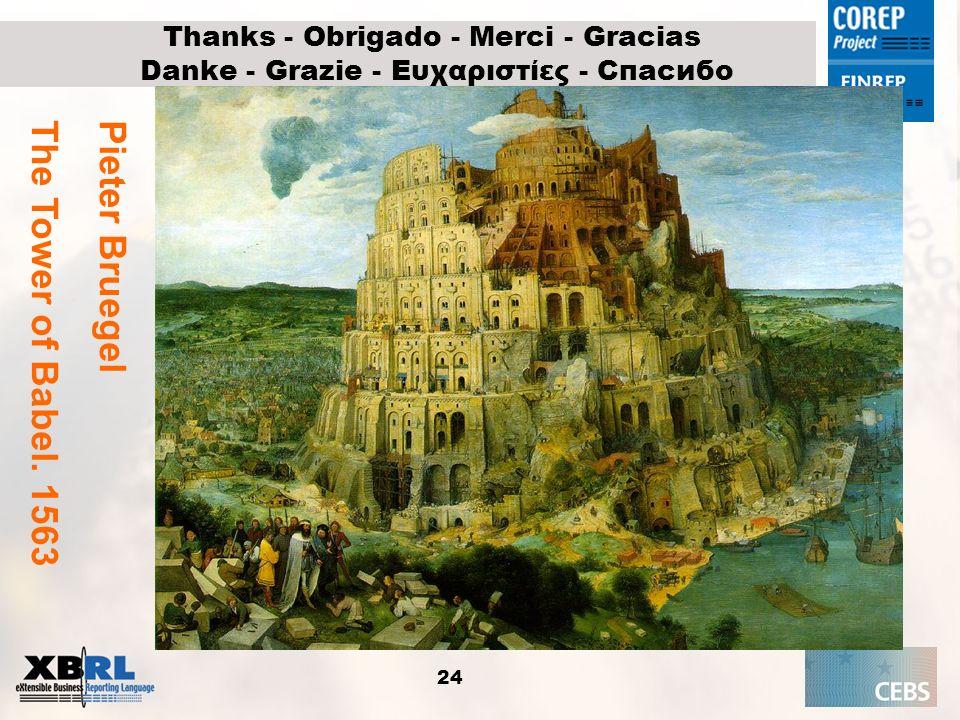 24 Thanks - Obrigado - Merci - Gracias Danke - Grazie - Ευχαριστίες - Спасибо Pieter Bruegel The Tower of Babel. 1563