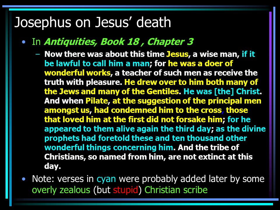 Tacitus on the Christian persecution In Annals, Book XV: –Consequently, to get rid of the report, Nero fastened the guilt and inflicted the most exquisite tortures on a class hated for their abominations, called Christians by the populace.
