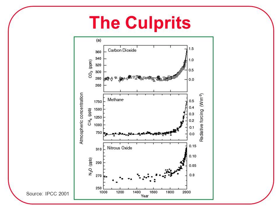 The Culprits Source: IPCC 2001