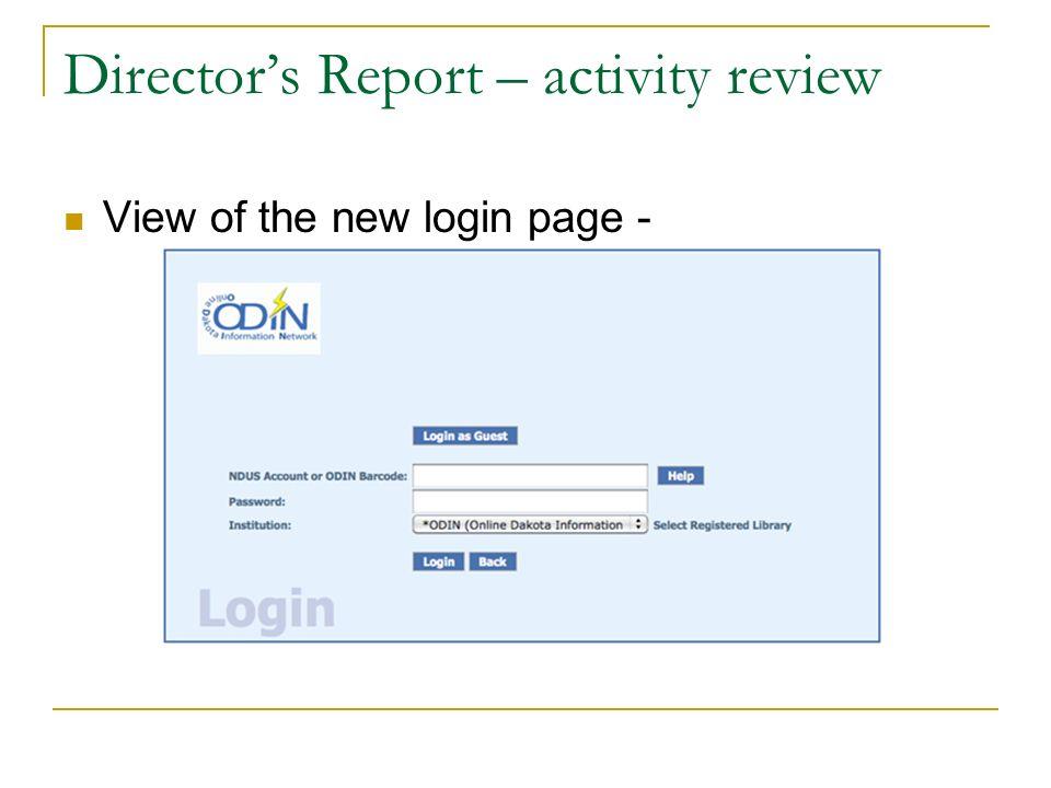 Directors Report – activity review The 2011 Upper Mid West User Group meeting was held October 17-18, 2011 in Fargo, ND.