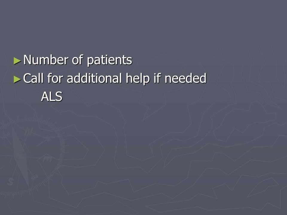 Number of patients Number of patients Call for additional help if needed Call for additional help if neededALS