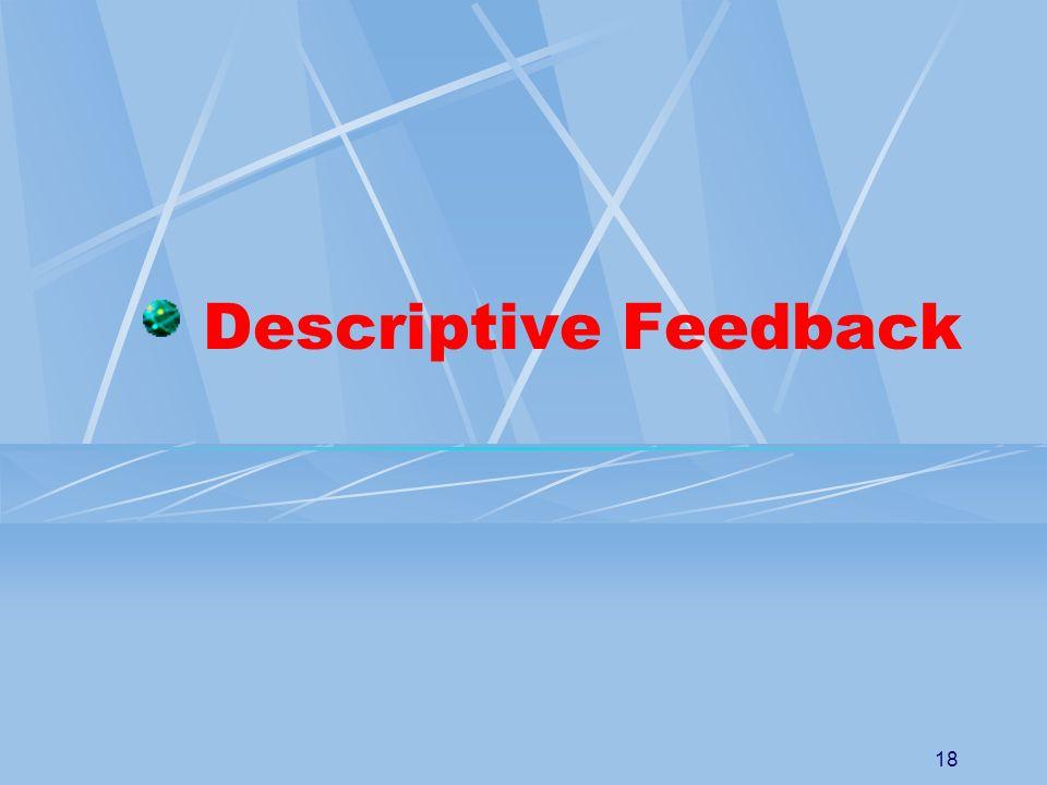 18 Descriptive Feedback
