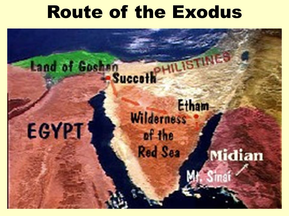Route of Exodus 1 Route of the Exodus