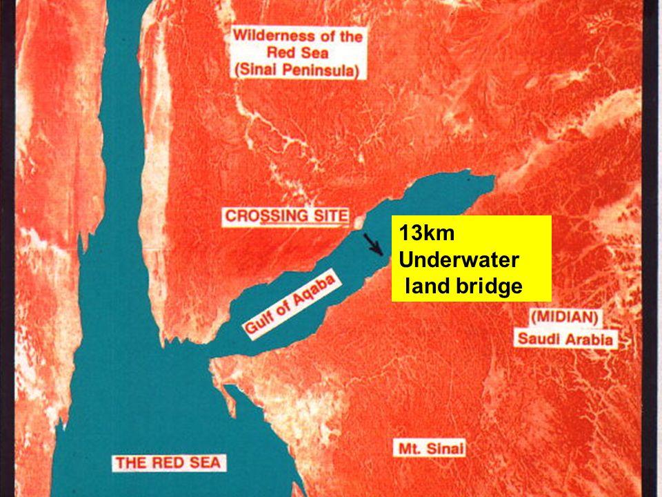 Route of Exodus 3 13km Underwater land bridge