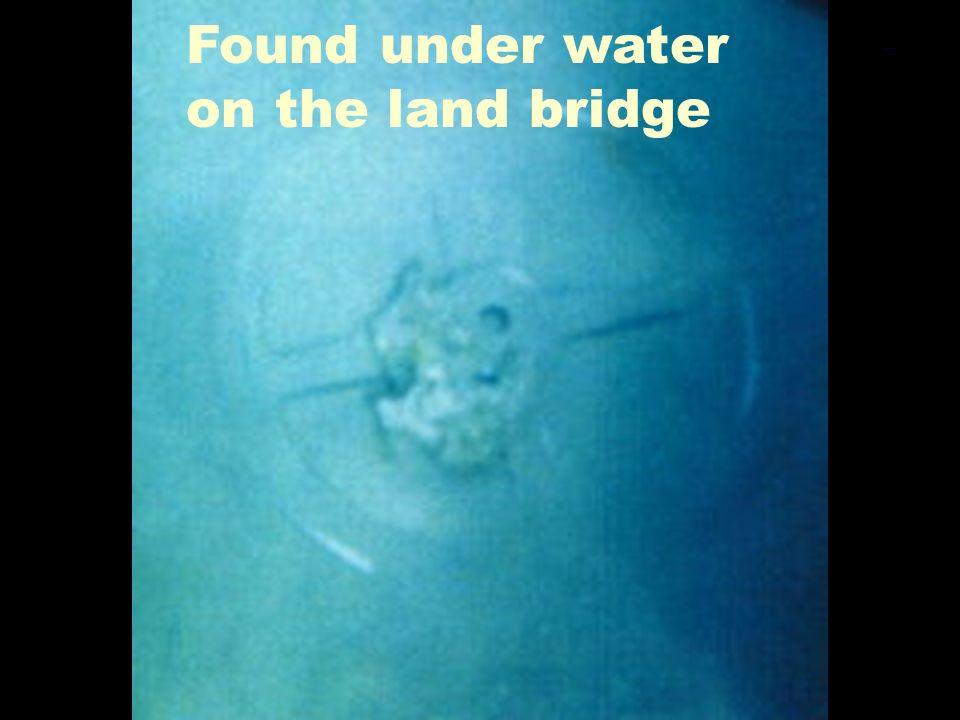 Chariot Wheel 1 Found under water on the land bridge