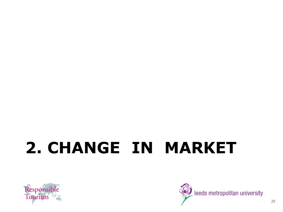 20 2. CHANGE IN MARKET