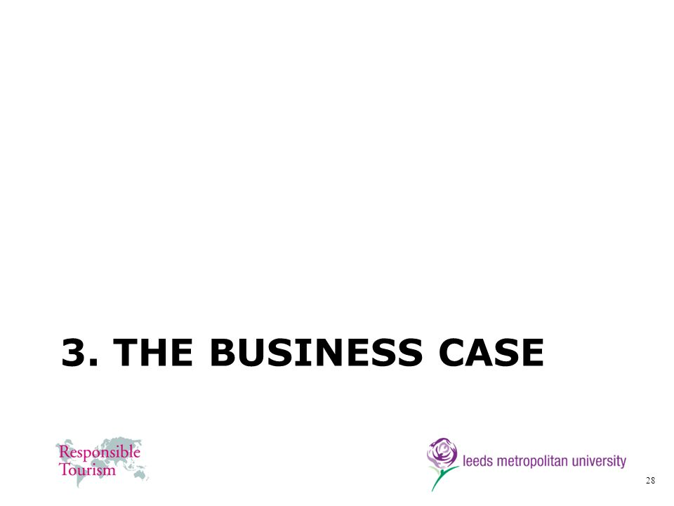 28 3. THE BUSINESS CASE