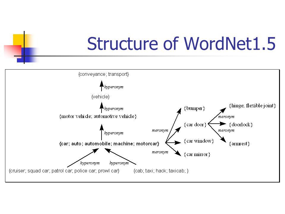 Structure of WordNet1.5