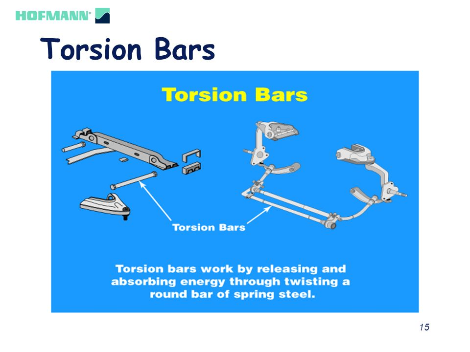 15 Torsion Bars