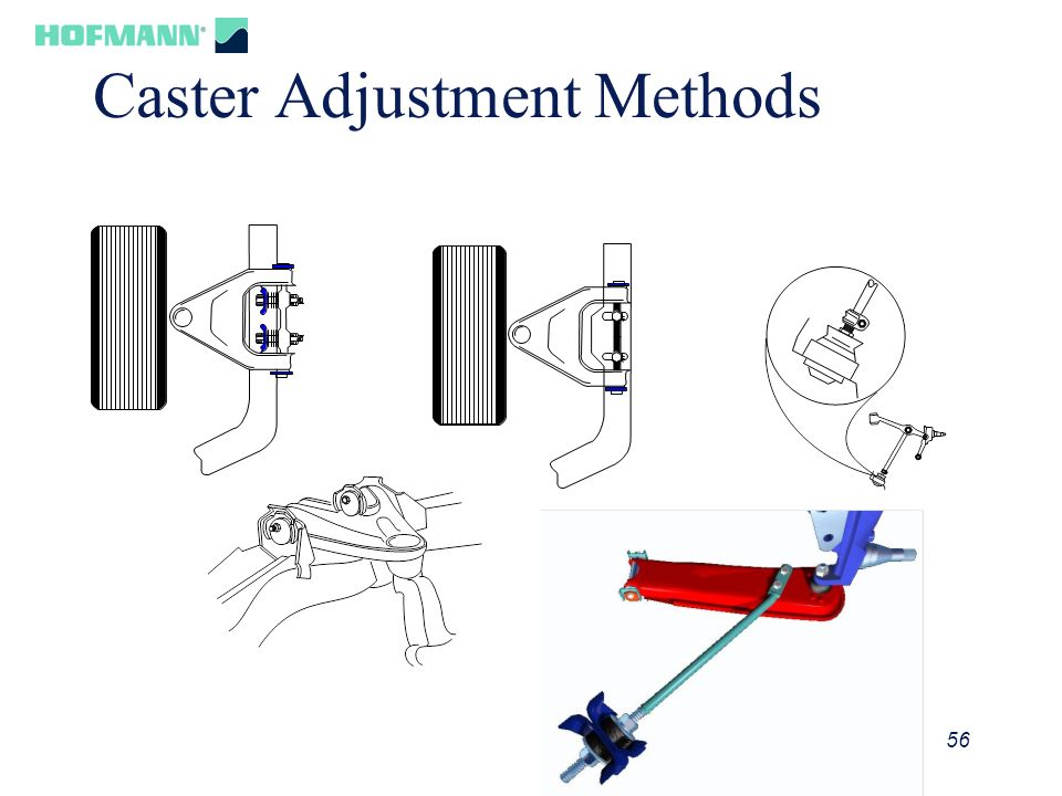 56 Caster Adjustment Methods