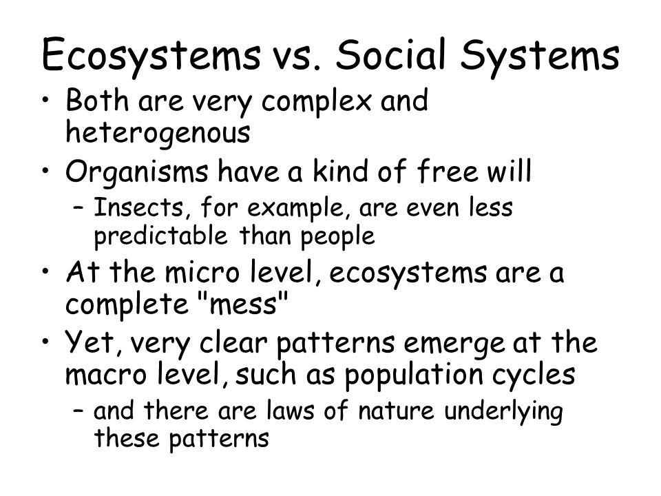 Ecosystems vs.