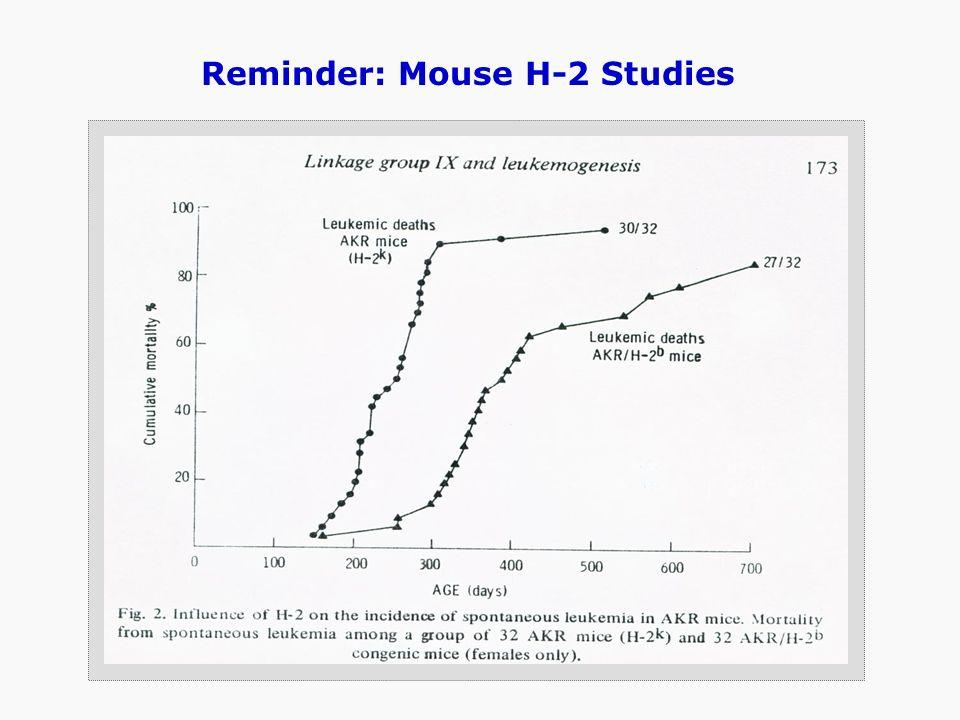 Reminder: Mouse H-2 Studies