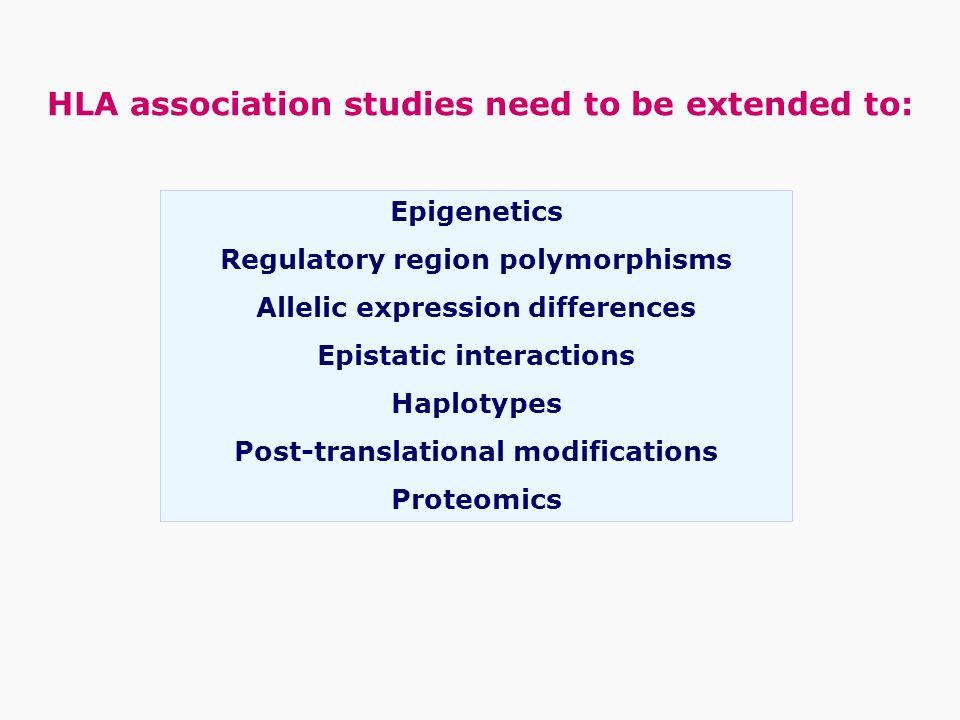 Epigenetics Regulatory region polymorphisms Allelic expression differences Epistatic interactions Haplotypes Post-translational modifications Proteomi
