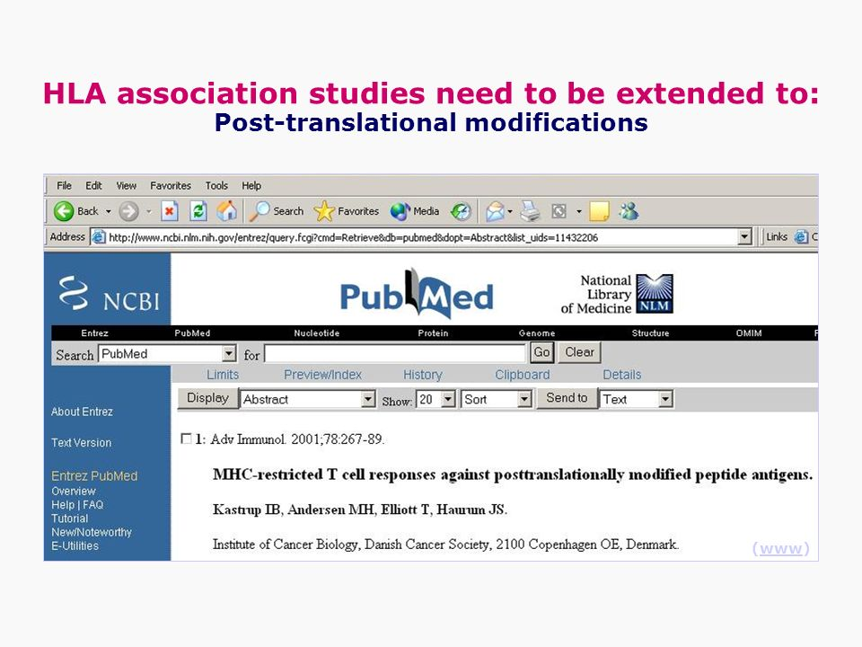 Post-translational modifications (www)www