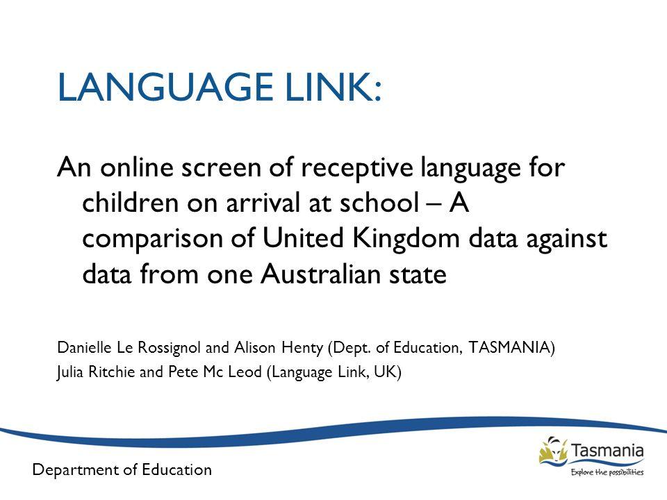 Department of Education Language Link – UK Data (Girls)
