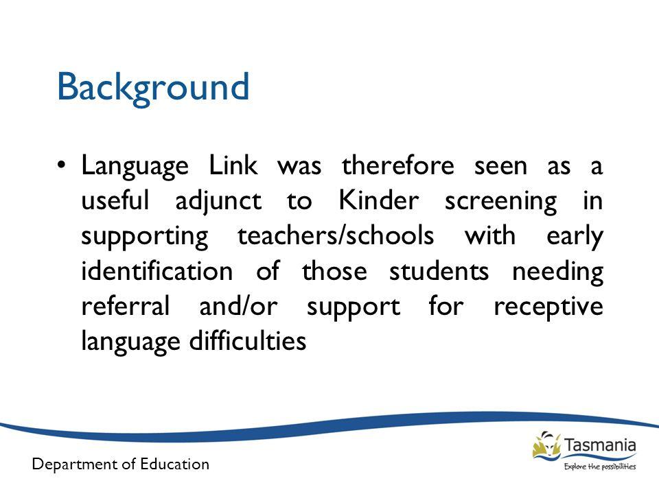 Department of Education Language Link – UK Data (Boys)