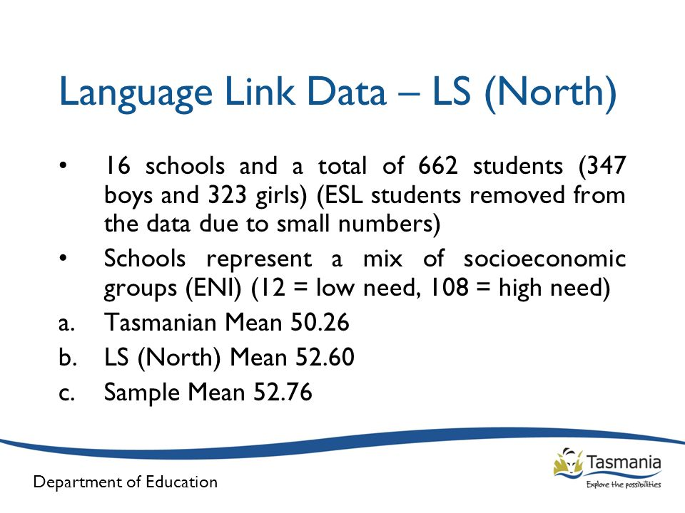 Department of Education Next Steps Continue to compare Language Link data with Kinder screen data Monitor students in Prep for literacy issues Seeking funding for Language Link as a universal screening tool for all students within Learning Services (North)