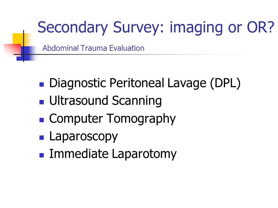 Tube Insertion Abdominal Trauma Evaluation Urinary catheter Monitor urinary output Caution!!! Inability to voidretrograde Pelvic fractureurethrogram o