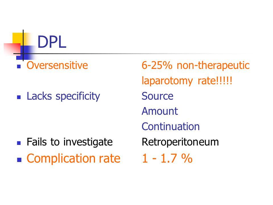 DPL Simple Fast Economical Reliable accuracy 97.3 - 99.1 % false positive 0.2 - 1.4 % false negative 1.2 - 1.3 %