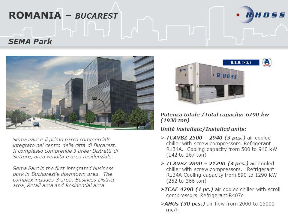 ROMANIA – BUCAREST Sema Parc è il primo parco commerciale integrato nel centro della città di Bucarest.