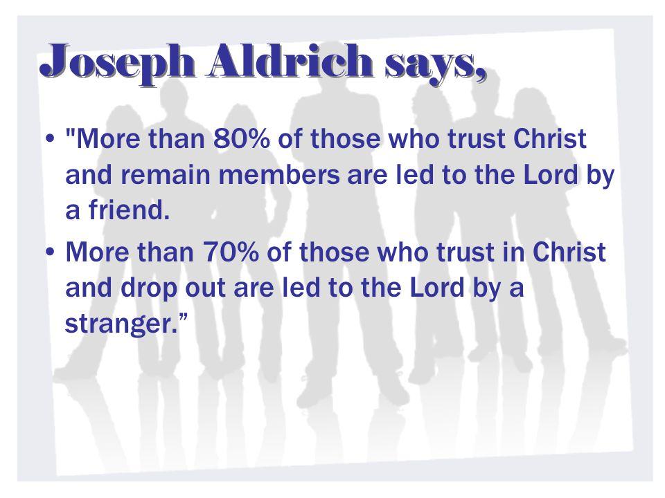 Joseph Aldrich says,