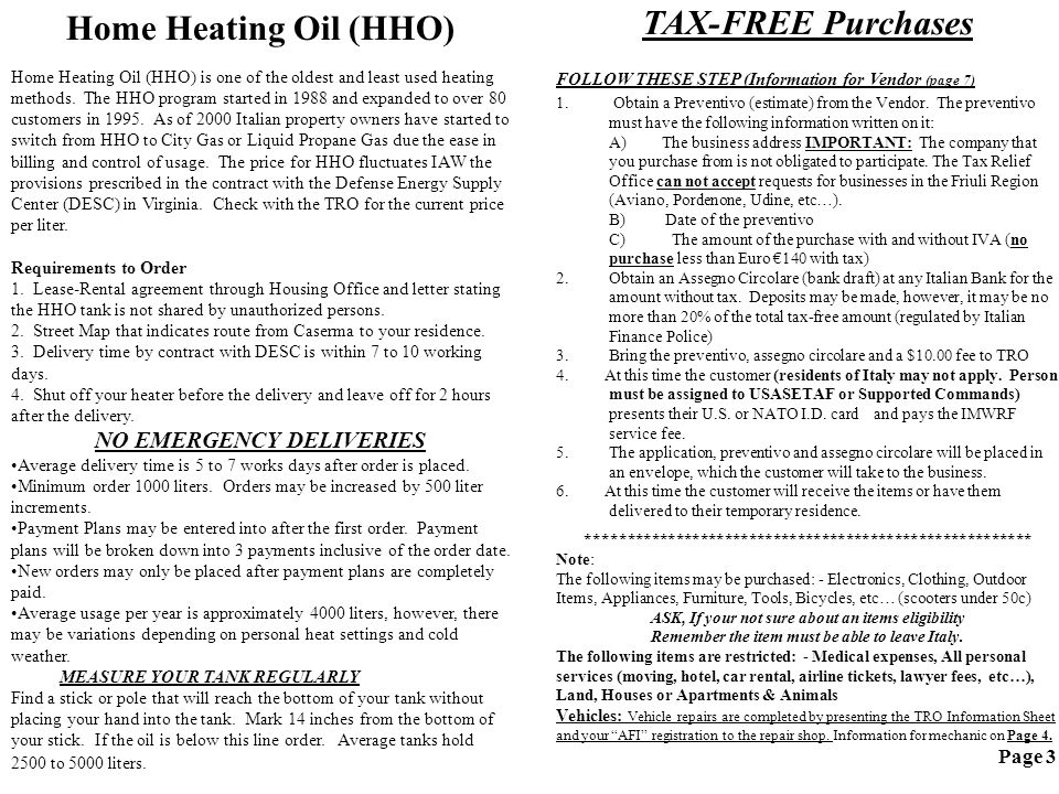 Home Heating Oil (HHO) Home Heating Oil (HHO) is one of the oldest and least used heating methods.