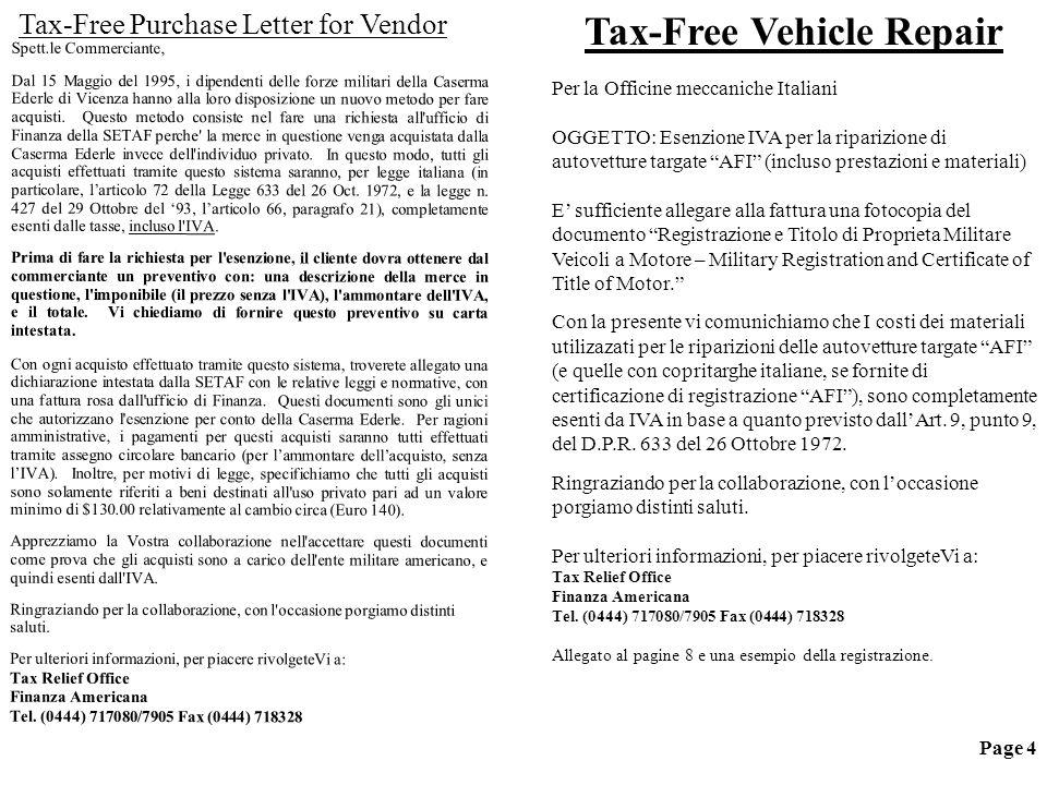 Spett.le Commerciante, Dal 15 Maggio del 1995, i dipendenti delle forze militari della Caserma Ederle di Vicenza hanno alla loro disposizione un nuovo metodo per fare acquisti.