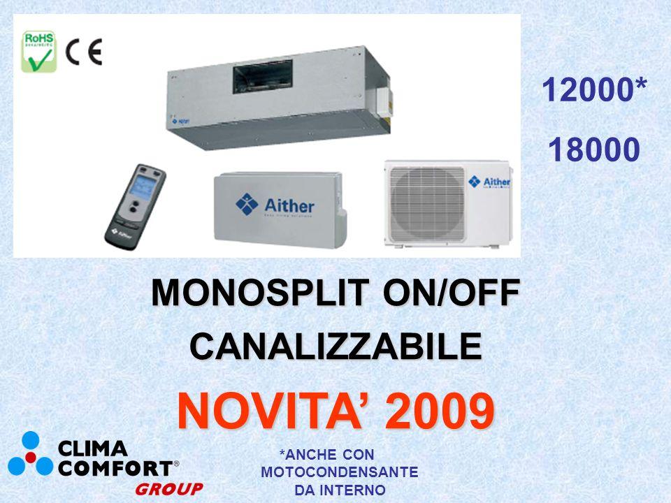 MONOSPLIT ON/OFF CASSETTE STANDARD NOVITA 2009 36000 220V