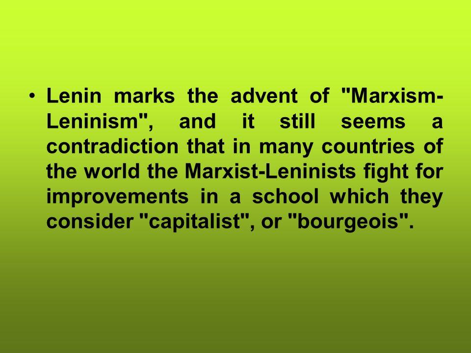 Lenin marks the advent of