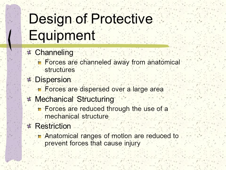 Arguments for and against Taping For Most studies agree that taping does contribute to a lower incidence of injury/re- injury Prophylactic taping is superior to lace on braces for the first 20 minutes, after that they are equal Against Tape usually becomes loose with wear The skin is mobile, thus taping can not be effective Taping weakens the leg muscles Moisture develops between skin/tape, thus affecting tape adherence Tape tears under stress