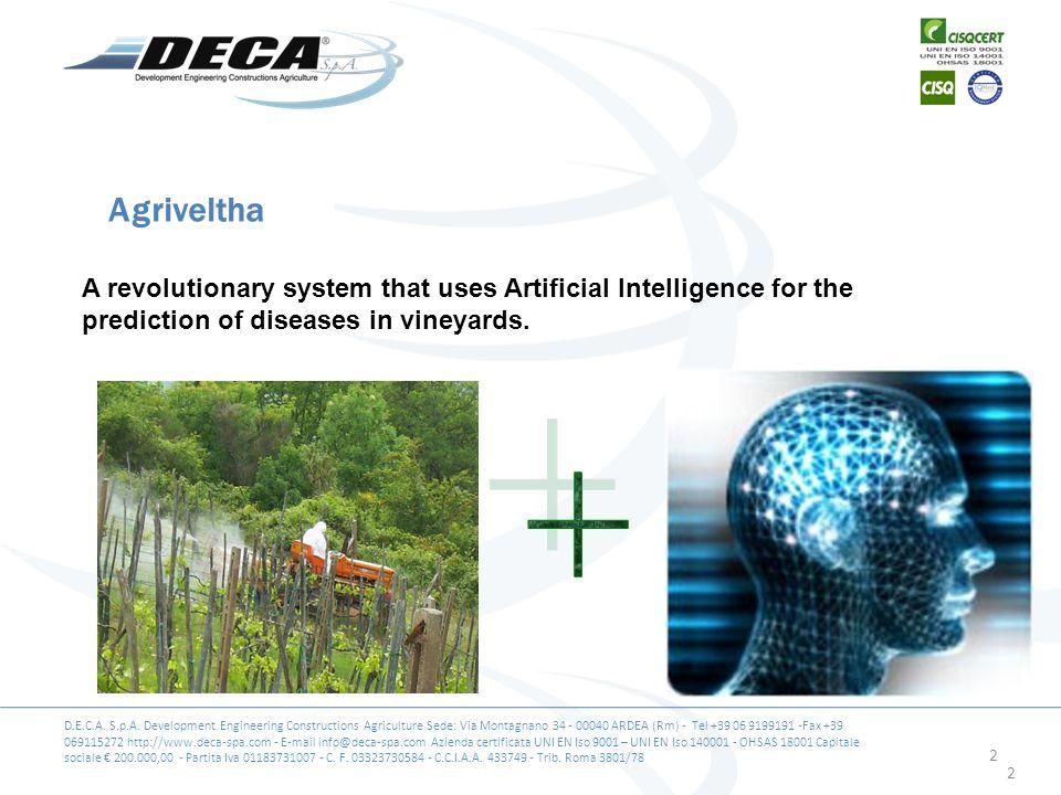 D.E.C.A. S.p.A. Development Engineering Constructions Agriculture Sede: Via Montagnano 34 - 00040 ARDEA (Rm) - Tel +39 06 9199191 -Fax +39 069115272 h