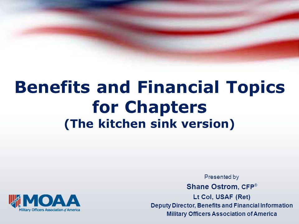 Overview Issues on… Health care Survivors VA Social Security Financial matters