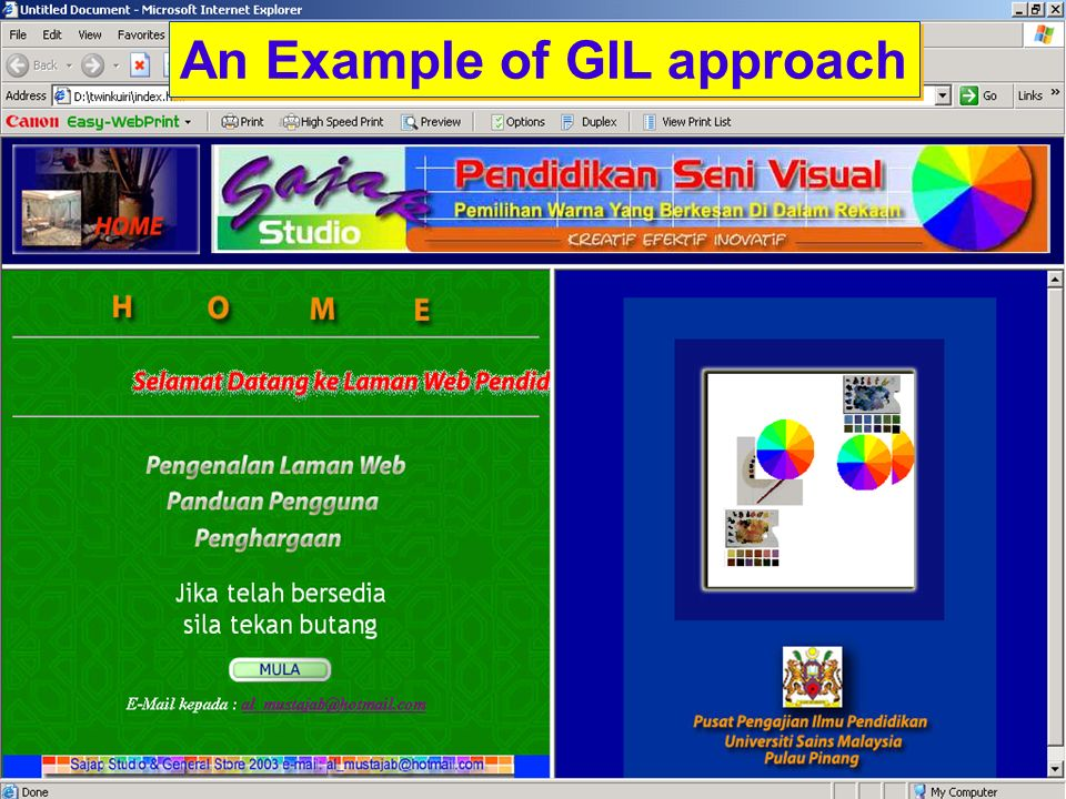 An Example of GIL approach
