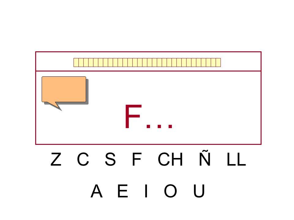 Z C S F CH Ñ LL A E I O U …