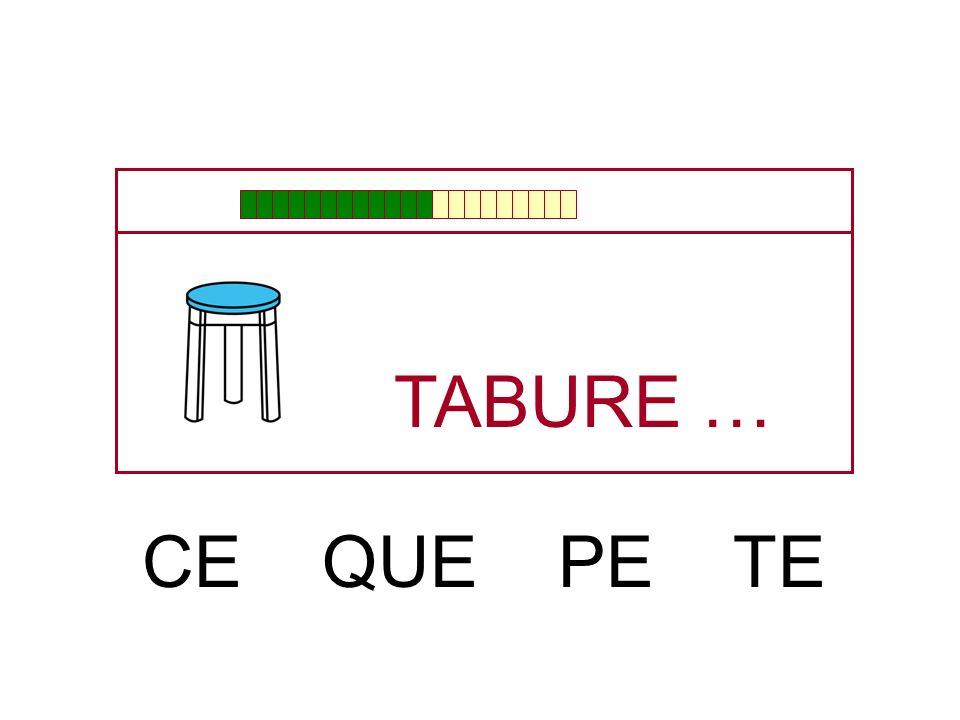 TABU … RE SE LE DE