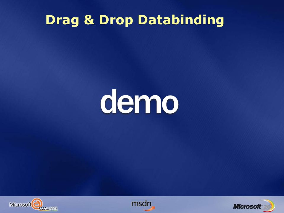 Drag & Drop Databinding