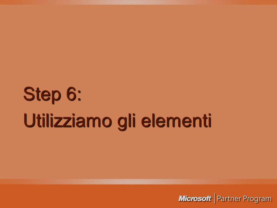 Step 6: Utilizziamo gli elementi