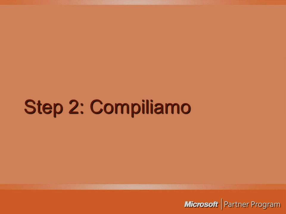 Step 2: Compiliamo