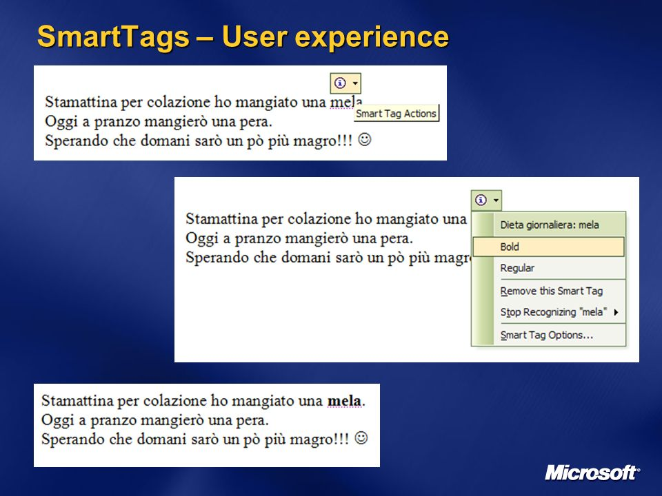 SmartTags – User experience