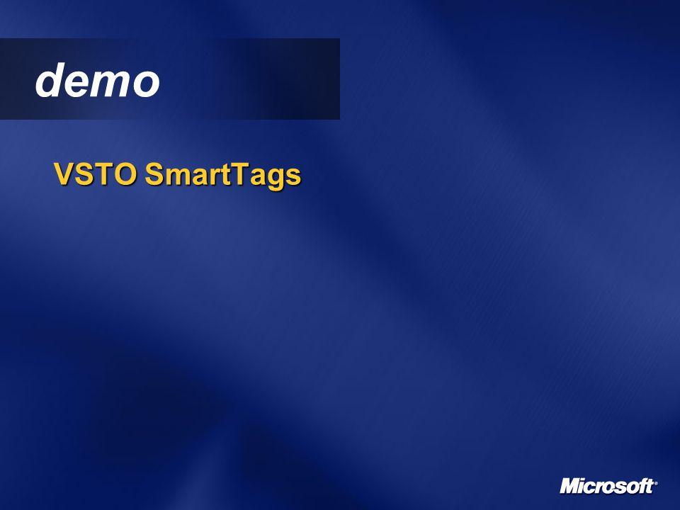 demo VSTO SmartTags