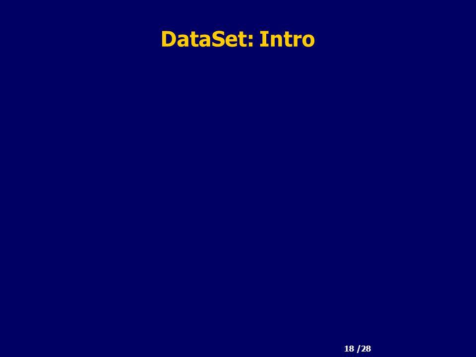 18 /28 DataSet: Intro