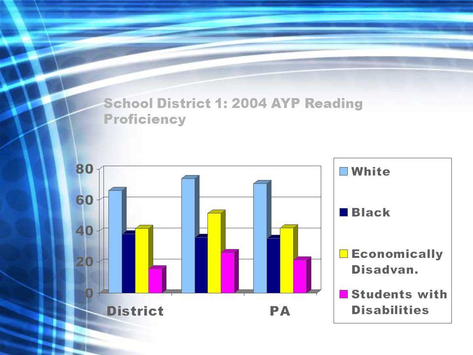 School District 1: 2004 AYP Reading Proficiency