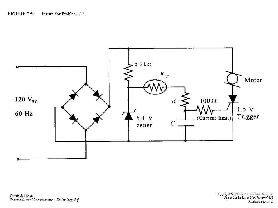 FIGURE 7.50 Figure for Problem 7.7. Curtis Johnson Process Control Instrumentation Technology, 8e] Copyright ©2006 by Pearson Education, Inc. Upper Sa