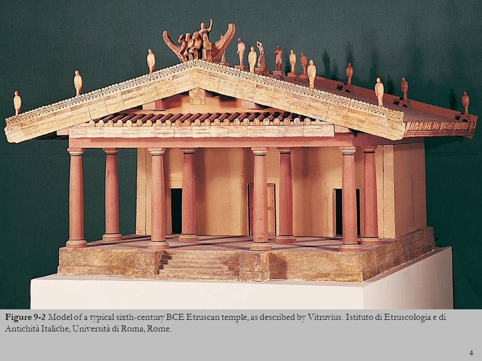 4 Figure 9-2 Model of a typical sixth-century BCE Etruscan temple, as described by Vitruvius. Istituto di Etruscologia e di Antichità Italiche, Univer